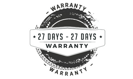 27 days warranty design stamp Illustration