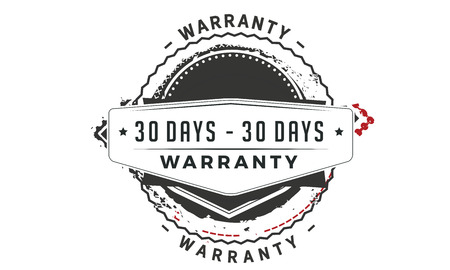 30 days warranty design stamp