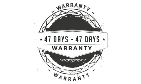 47 days warranty design stamp