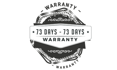73 days warranty design stamp