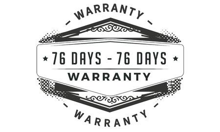 76 days warranty design stamp