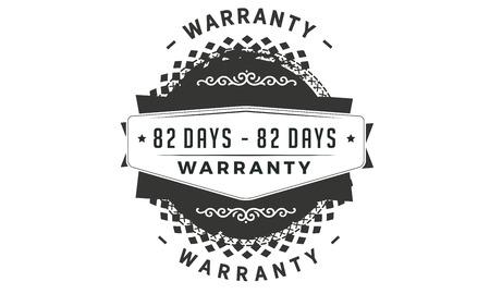 82 days warranty design stamp