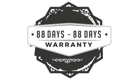 88 days warranty design stamp Ilustrace