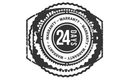 24 days warranty design stamp