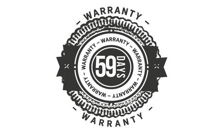59 days warranty design stamp Illustration