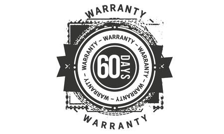 60 days warranty design stamp
