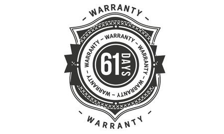 61 days warranty design stamp