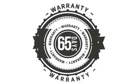 65 days warranty design stamp