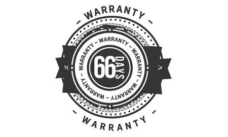 66 days warranty design stamp