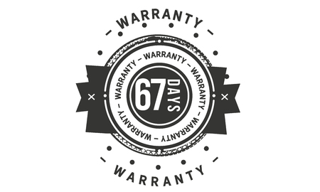 67 days warranty design stamp