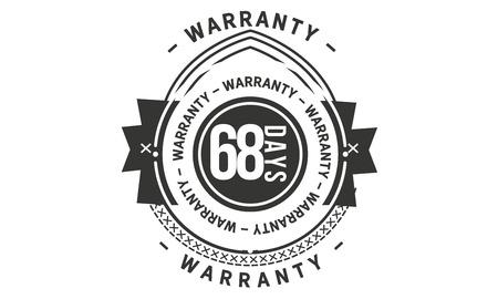 68 days warranty design stamp