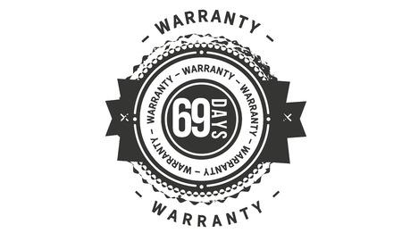 69 days warranty design stamp