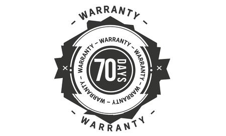 70 days warranty design stamp Illustration