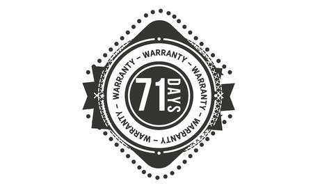 71 days warranty design stamp