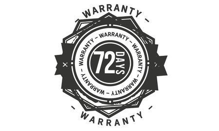 72 days warranty design stamp Illustration