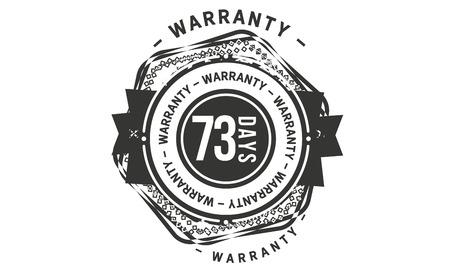73 days warranty design stamp