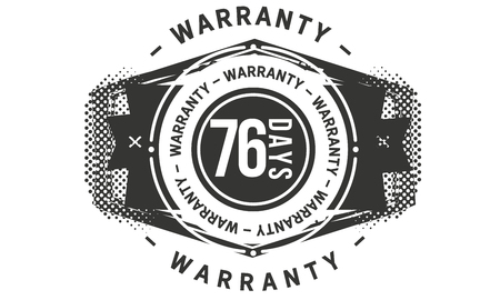 76 days warranty design stamp