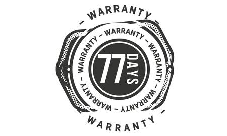 77 days warranty design stamp Illustration
