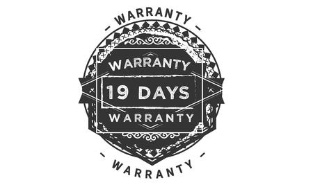 19 days warranty design stamp