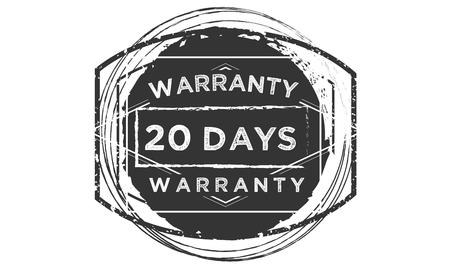 20 days warranty design stamp