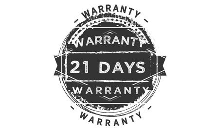 21 days warranty design stamp Illustration