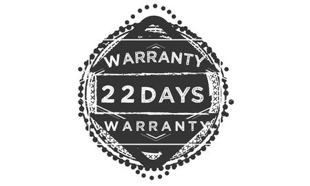 22 days warranty design stamp Illustration