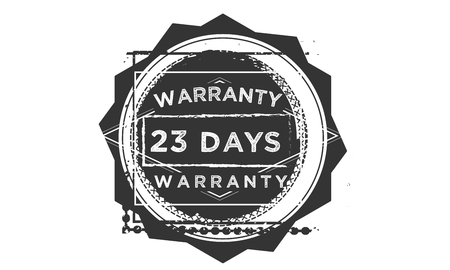 23 days warranty design stamp
