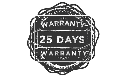25 days warranty design stamp
