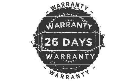 26 days warranty design stamp Illustration