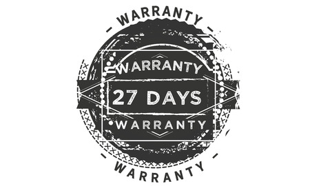 27 days warranty design stamp Illustration