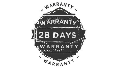 28 days warranty design stamp