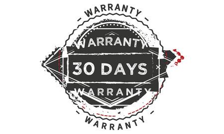 30 days warranty design stamp