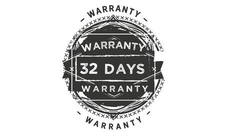 32 days warranty design stamp