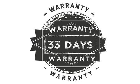 33 days warranty design stamp