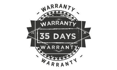 35 days warranty design stamp Illustration