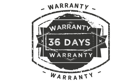 36 days warranty design stamp