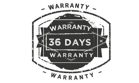 36 days warranty design stamp
