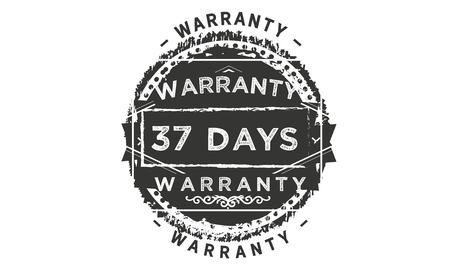 37 days warranty design stamp