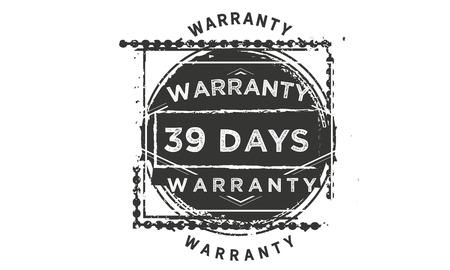 39 days warranty illustration design stamp badge icon