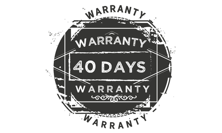 40 days warranty illustration design stamp badge icon