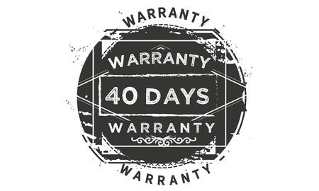 40 days warranty illustration design stamp badge icon
