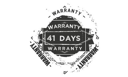 41 days warranty illustration design stamp badge icon Illustration