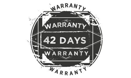 42 days warranty illustration design stamp badge icon