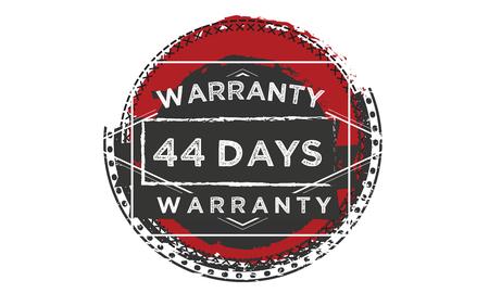 44 days warranty illustration design stamp badge icon Illustration