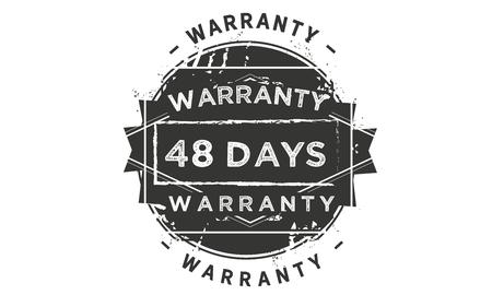 48 days warranty illustration design stamp badge icon Illustration
