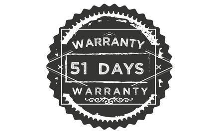 51 days warranty illustration design stamp badge icon