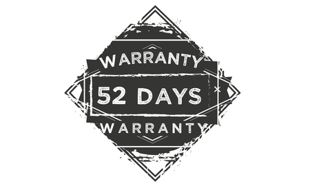 52 days warranty illustration design stamp badge icon