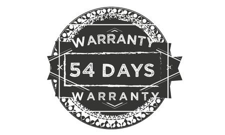 54 days warranty illustration design stamp badge icon