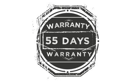 55 days warranty illustration design stamp badge icon