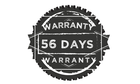 56 days warranty illustration design stamp badge icon